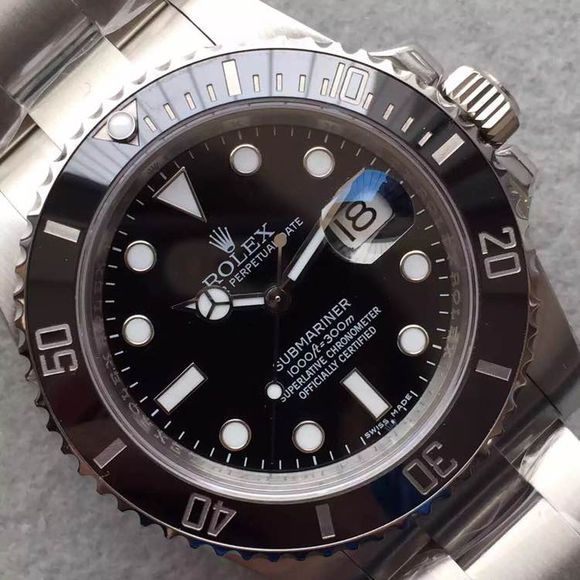Black Rolex Submariner replica Bezel Engraving